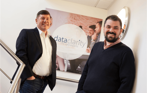 Kevin Carrick, CEO of Data Clarity, with Pana Lepeniotis, co-founder