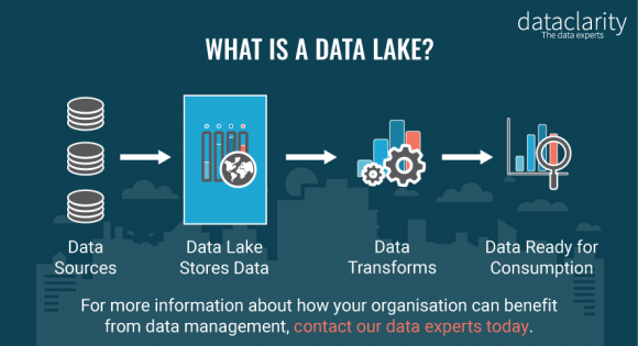 A graph that shows the purpose of a data lake